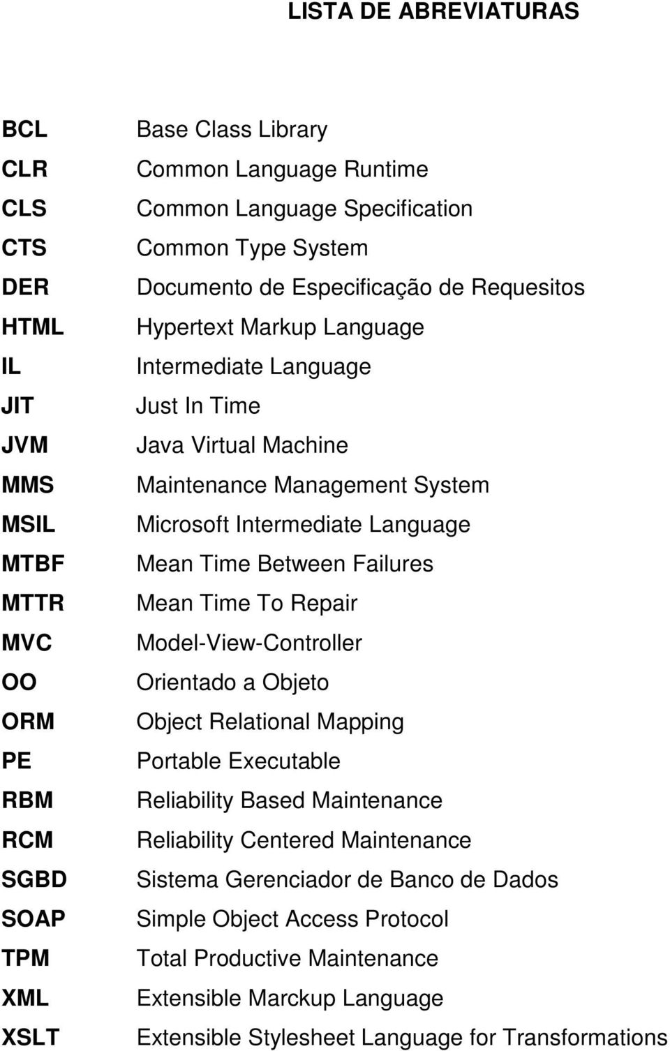 Microsoft Intermediate Language Mean Time Between Failures Mean Time To Repair Model-View-Controller Orientado a Objeto Object Relational Mapping Portable Executable Reliability Based