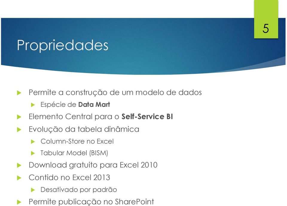 Column-Store no Excel Tabular Model (BISM) Download gratuito para Excel