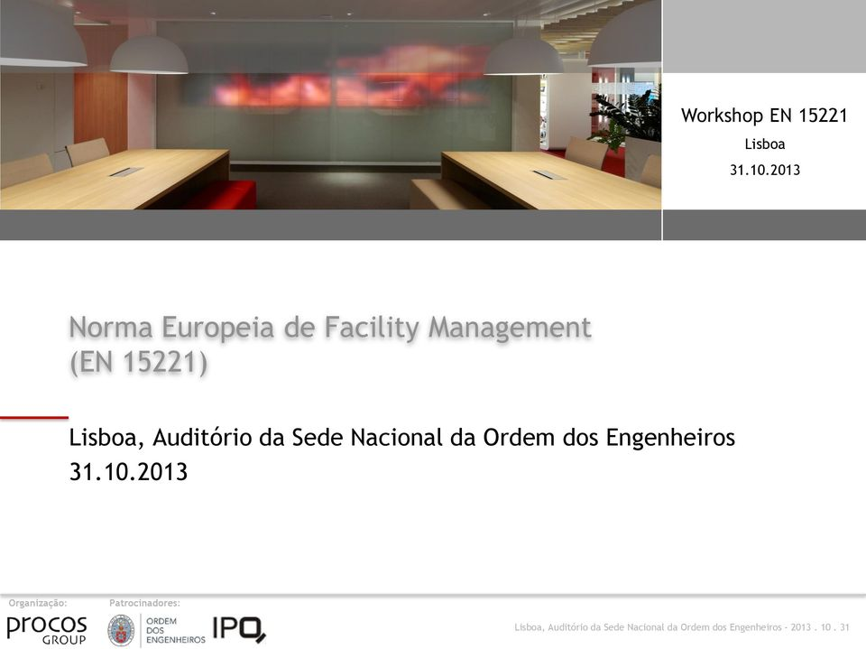 Management (EN 15221) Lisboa,