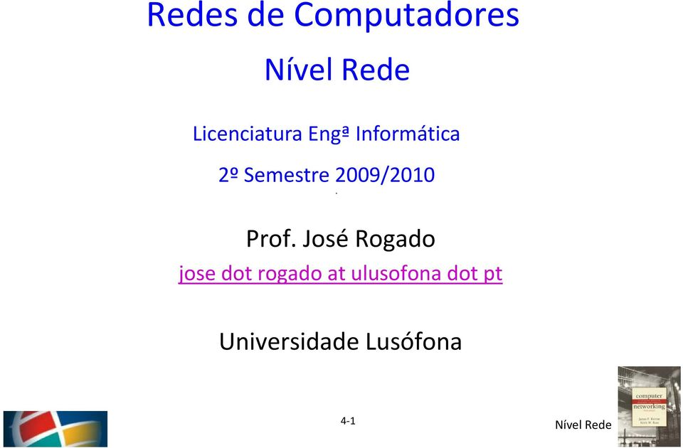 Prof. José Rogado jose dot rogado at