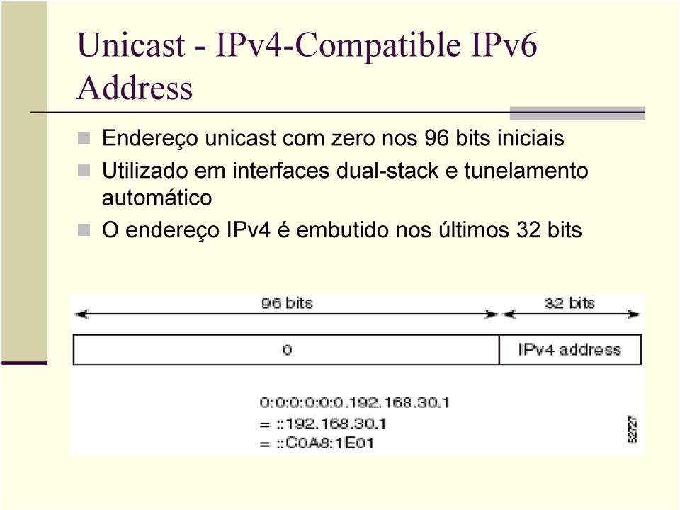 em interfaces dual-stack e tunelamento