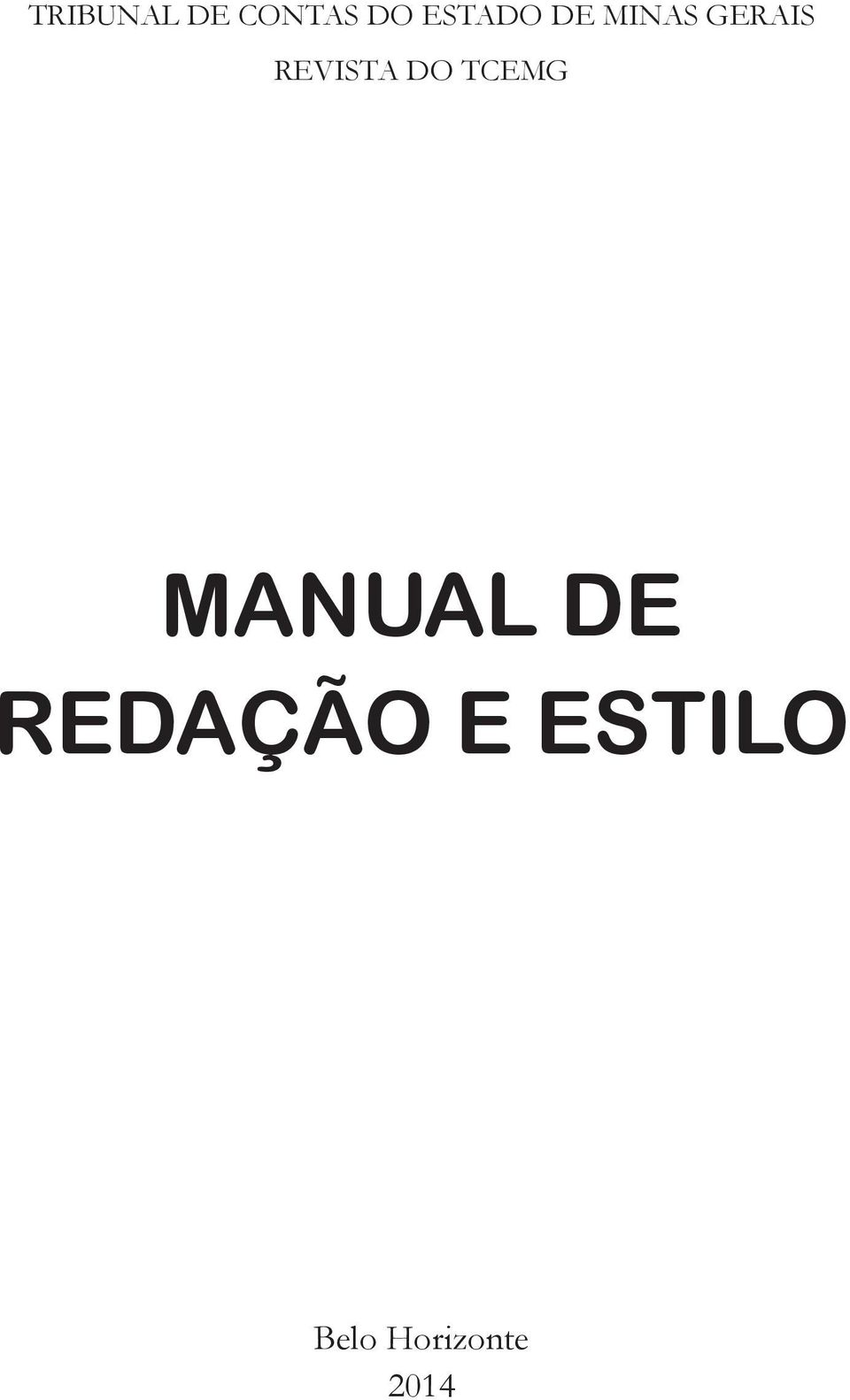 REVISTA DO TCEMG MANUAL DE