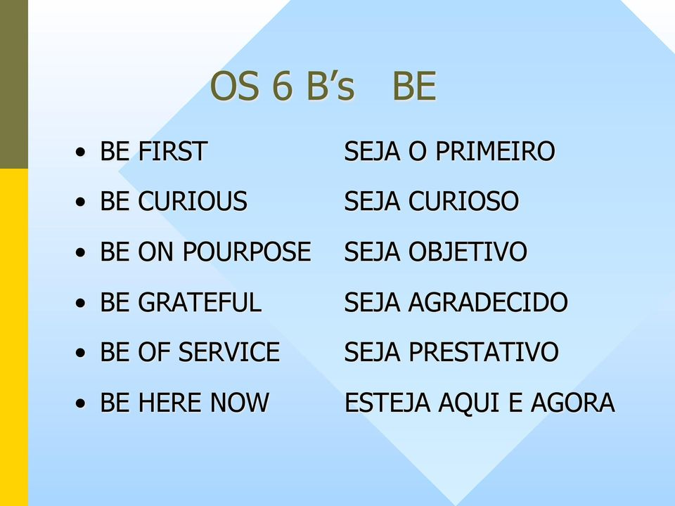 OBJETIVO BE GRATEFUL SEJA AGRADECIDO BE OF