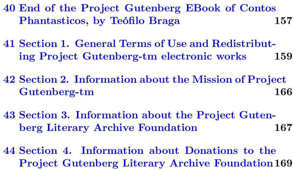 Information about the Mission of Project Gutenberg-tm 166 43 Section 3.