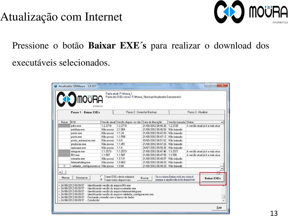 s para realizar o download