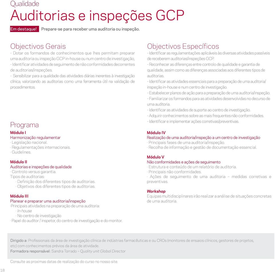 decorrentes de auditorias/inspeções.