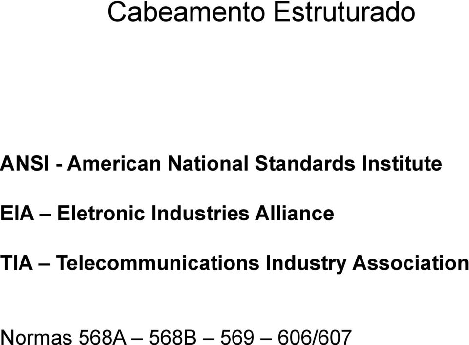 Industries Alliance TIA Telecommunications