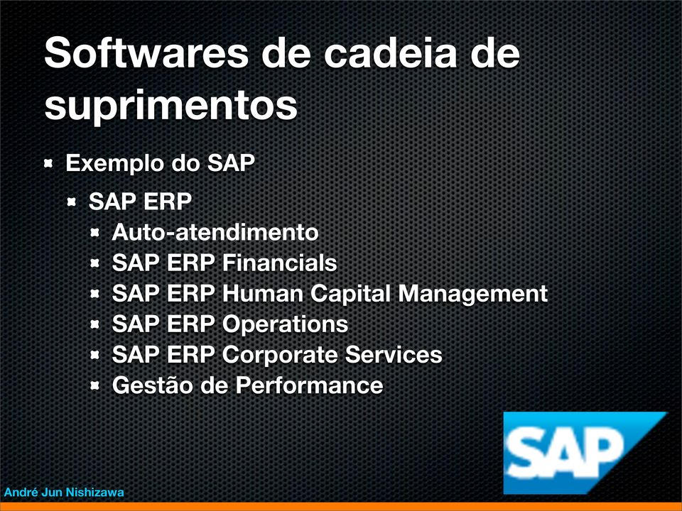 Capital Management SAP ERP Operations