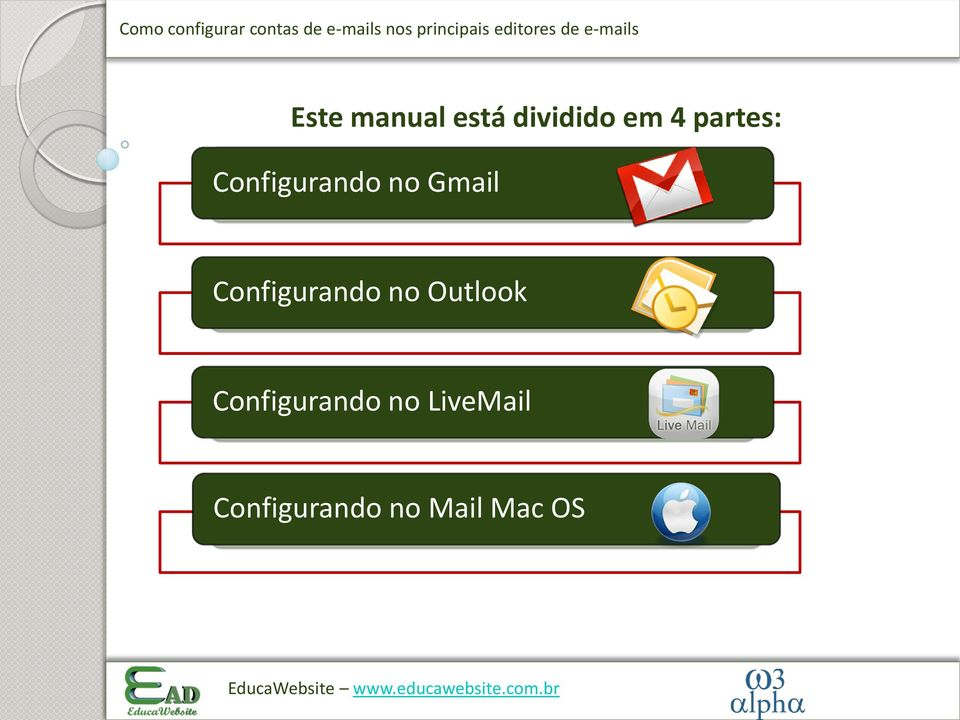 Configurando no Outlook