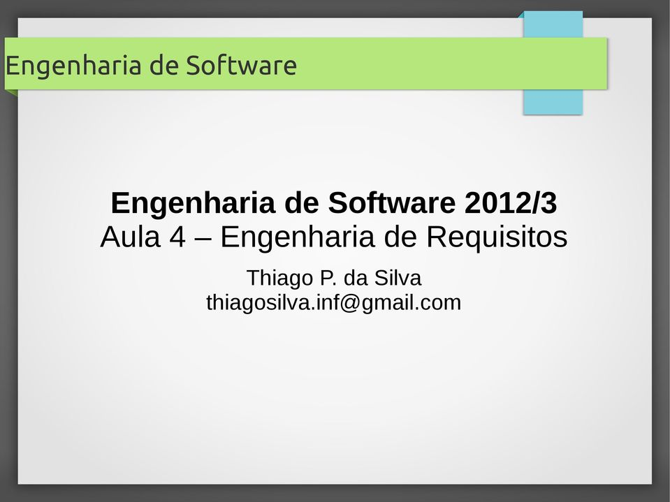 Requisitos Thiago P.