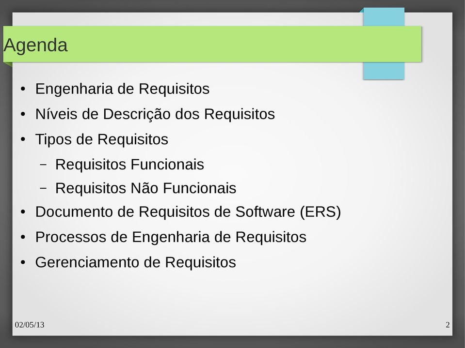 Não Funcionais Documento de Requisitos de Software (ERS)
