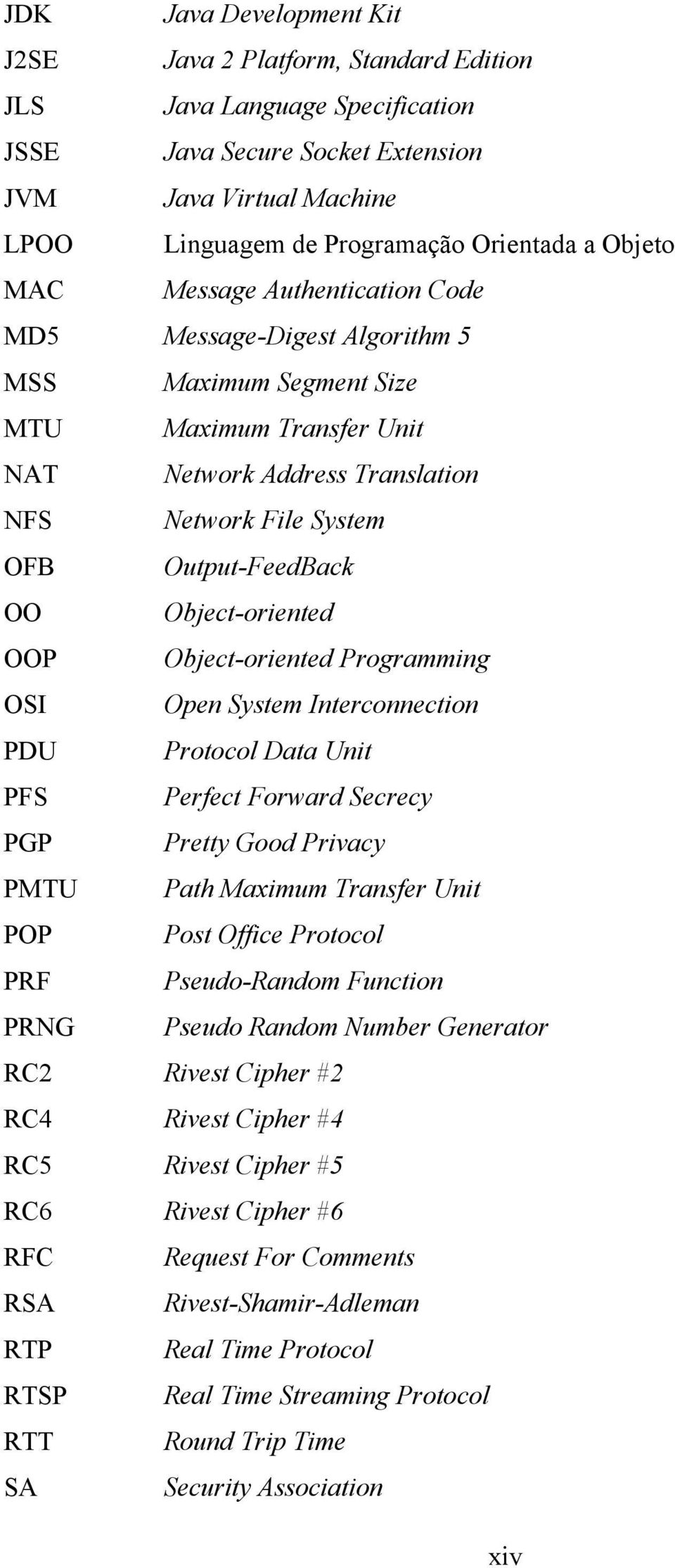 Object-oriented OOP Object-oriented Programming OSI Open System Interconnection PDU Protocol Data Unit PFS Perfect Forward Secrecy PGP Pretty Good Privacy PMTU Path Maximum Transfer Unit POP Post