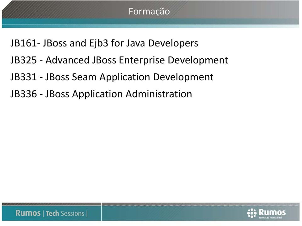 Development JB331 JBoss Seam Application