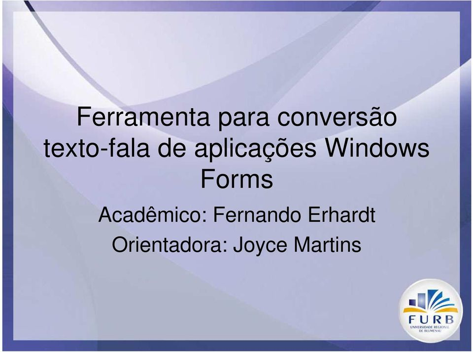 Windows Forms Acadêmico: