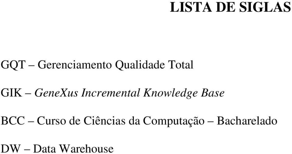 Incremental Knowledge Base BCC Curso