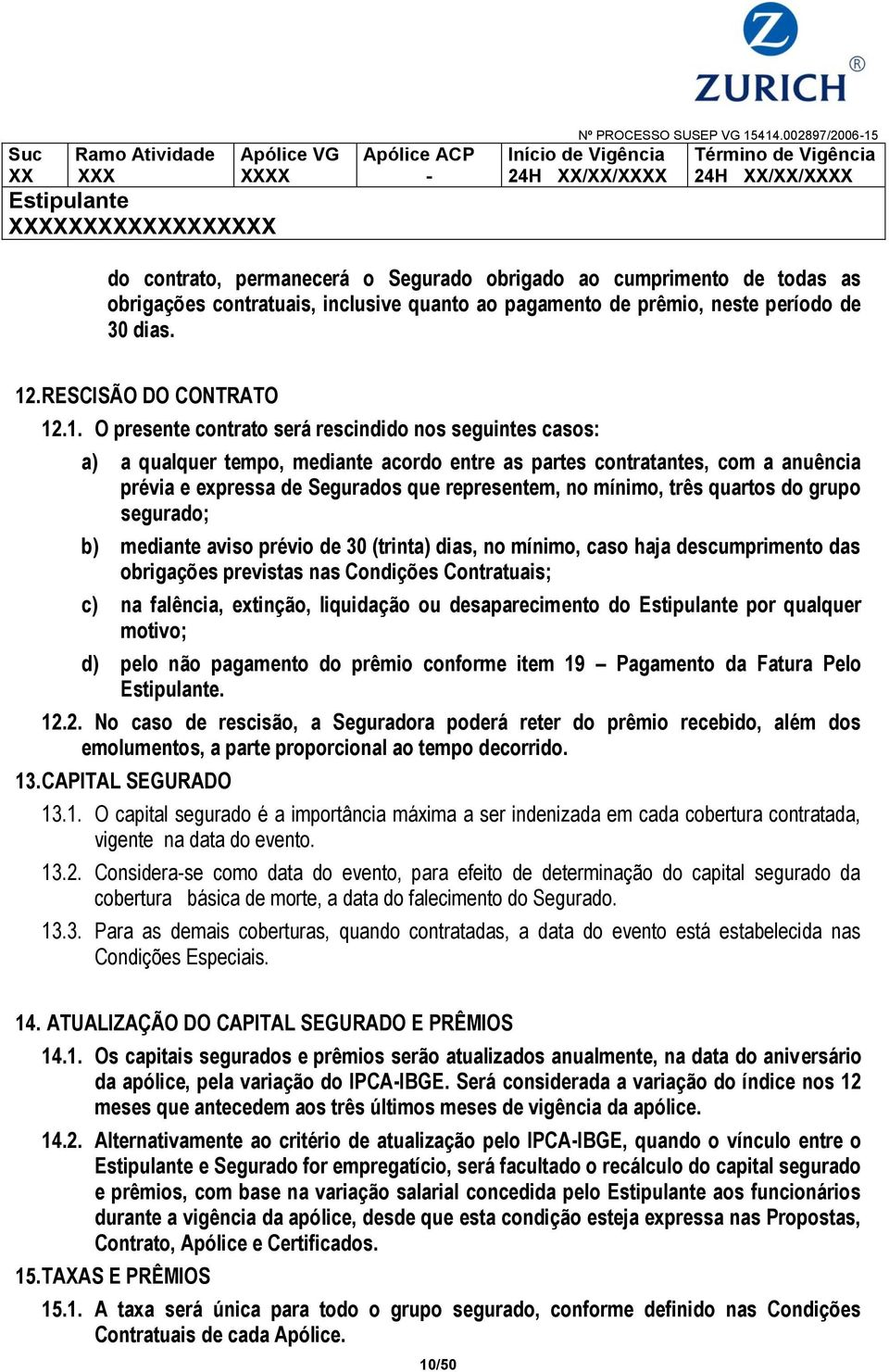 RESCISÃO DO CONTRATO 12