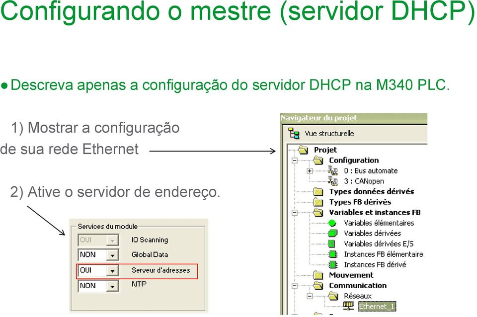 DHCP na M340 PLC.