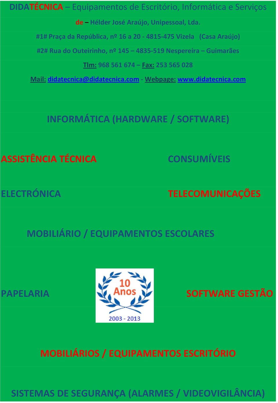 Fax: 253 565 028 Mail: didatecnica@
