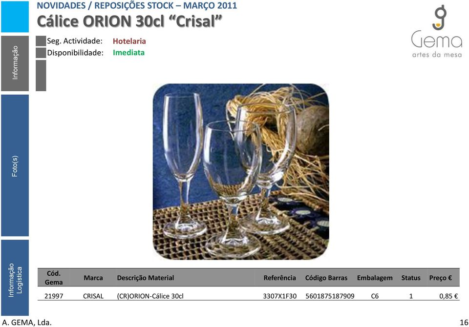 (CR)ORION-Cálice 30cl