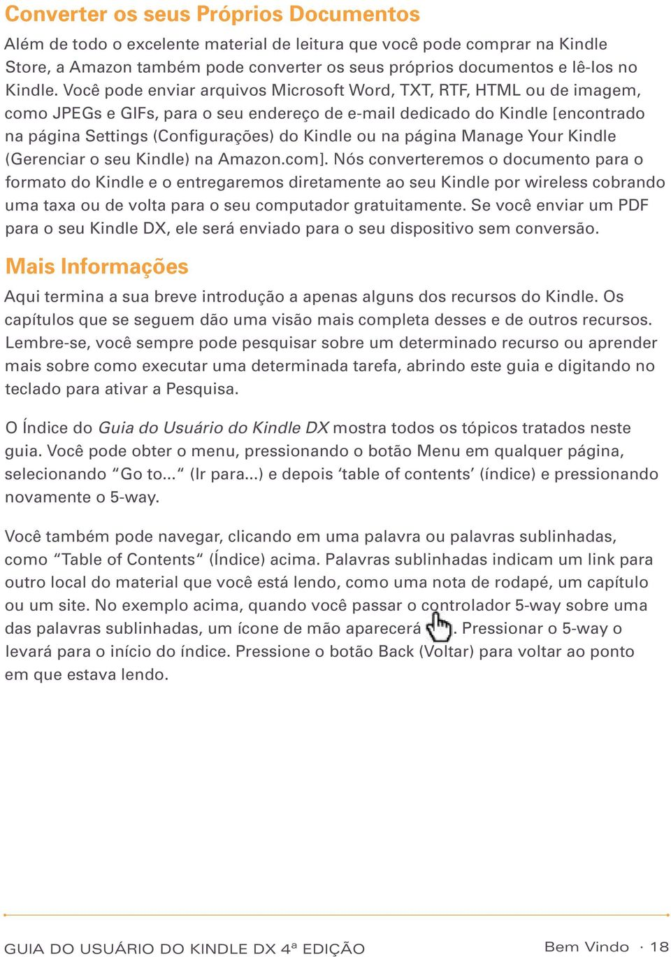 na página Manage Your Kindle (Gerenciar o seu Kindle) na Amazon.com].