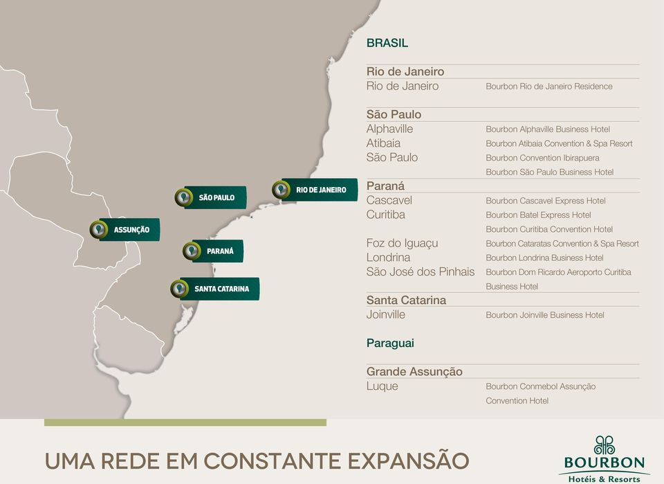 São Paulo Business Hotel Bourbon Cascavel Express Hotel Bourbon Batel Express Hotel Bourbon Curitiba Convention Hotel Bourbon Cataratas Convention & Spa Resort Bourbon Londrina Business