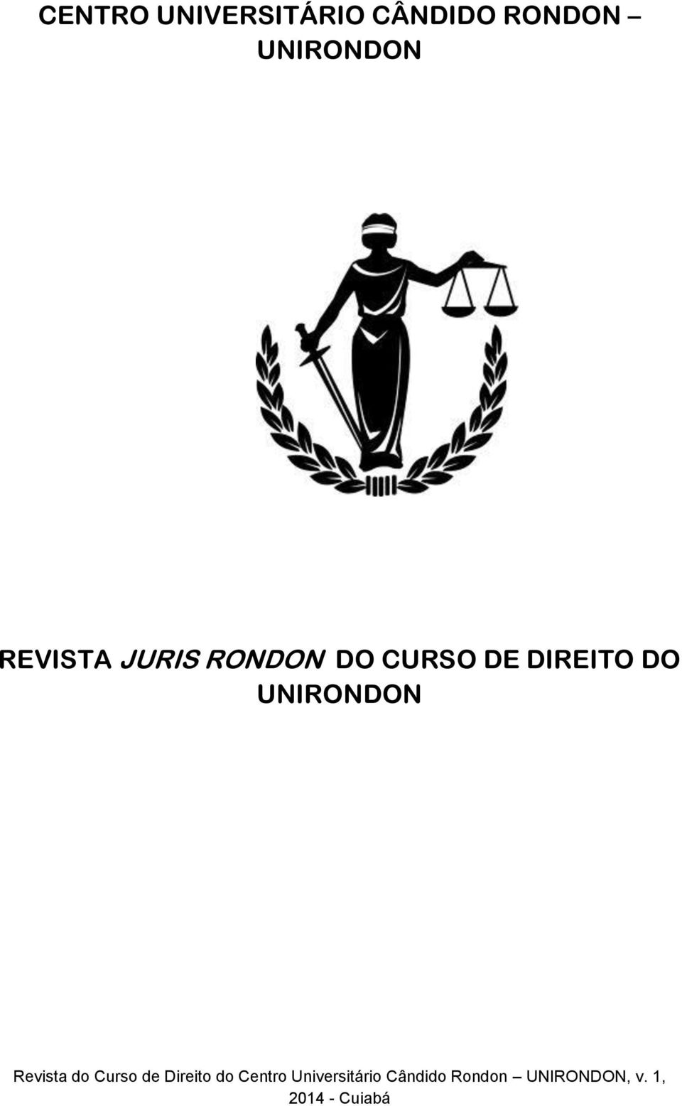 UNIRONDON Revista do Curso de Direito do Centro