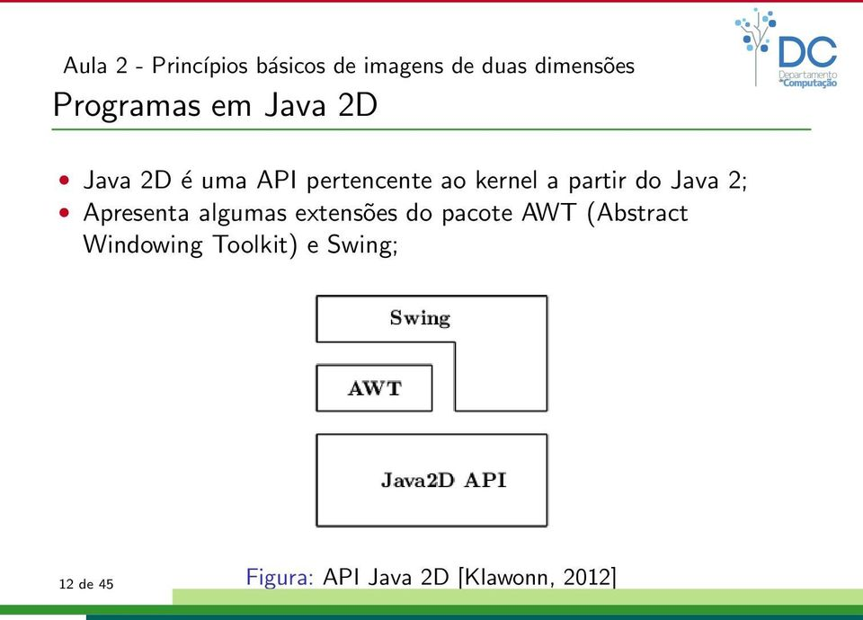 extensões do pacote AWT (Abstract Windowing