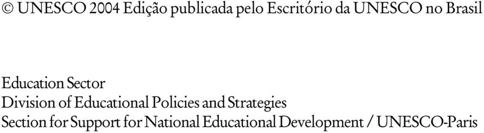 Educational Policies and Strategies Section for