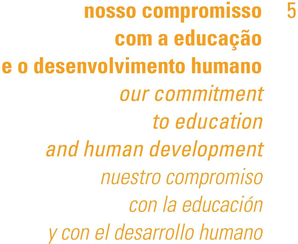 education and human development nuestro
