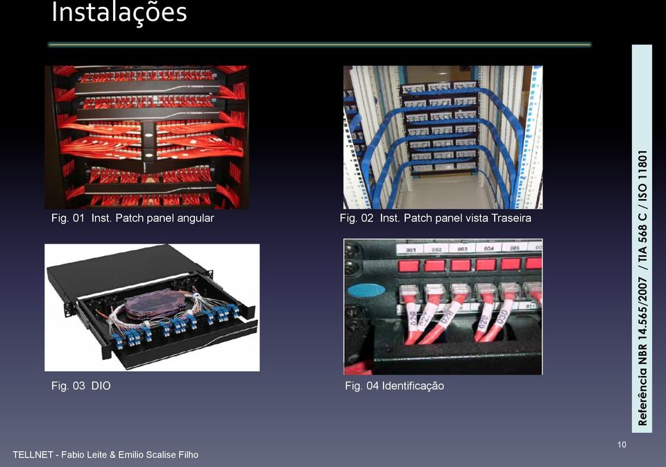 02 Inst. Patch panel vista Traseira Fig.