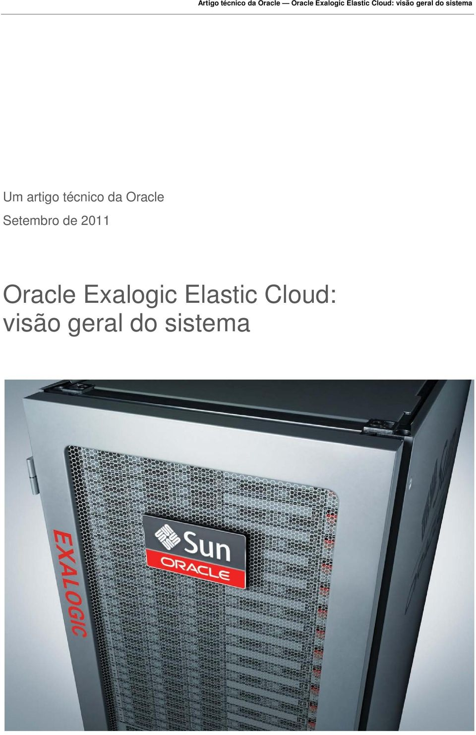 Oracle Exalogic Elastic