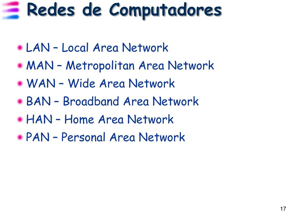 Wide Area Network BAN Broadband Area