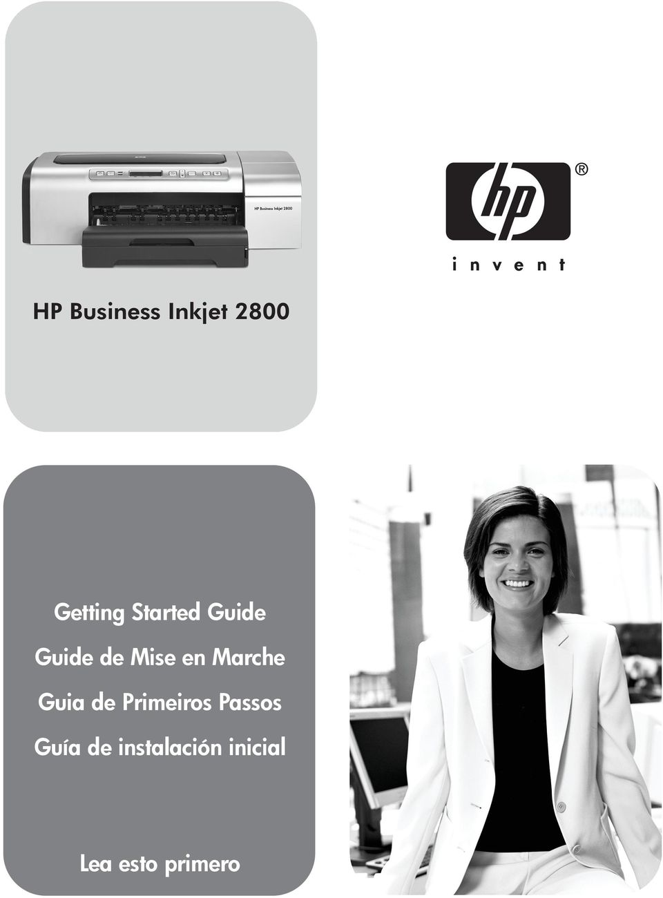 Business Inkjet 2800 Getting Started Guide Guide de