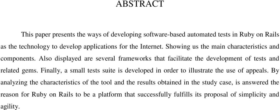 Also displayed are several frameworks that facilitate the development of tests and related gems.