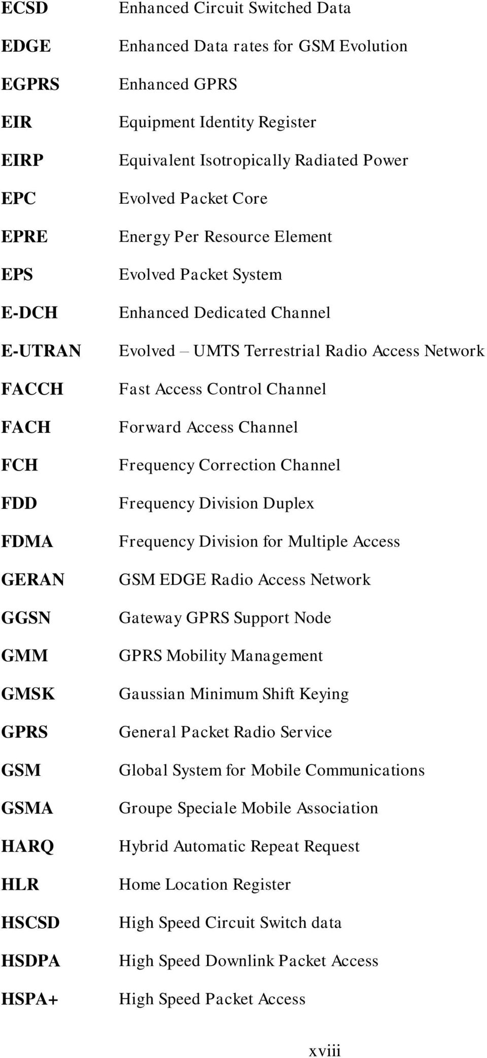 UMTS Terrestrial Radio Access Network Fast Access Control Channel Forward Access Channel Frequency Correction Channel Frequency Division Duplex Frequency Division for Multiple Access GSM EDGE Radio