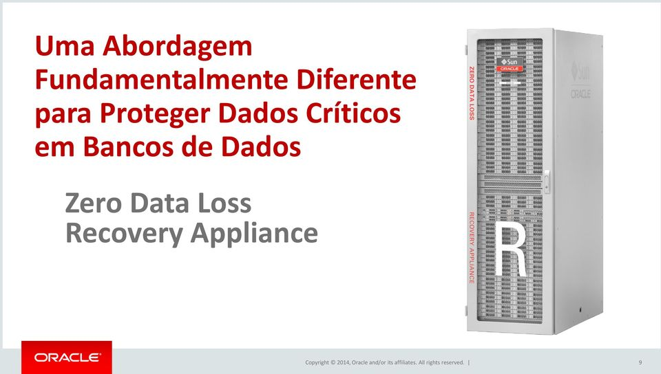 Data Loss Recovery Appliance Copyright 2014,