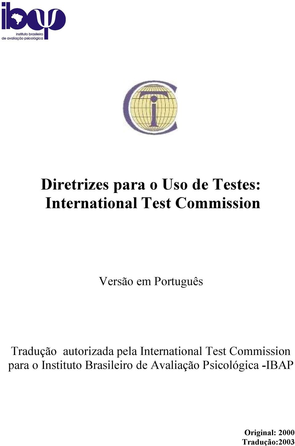 International Test Commission para o Instituto