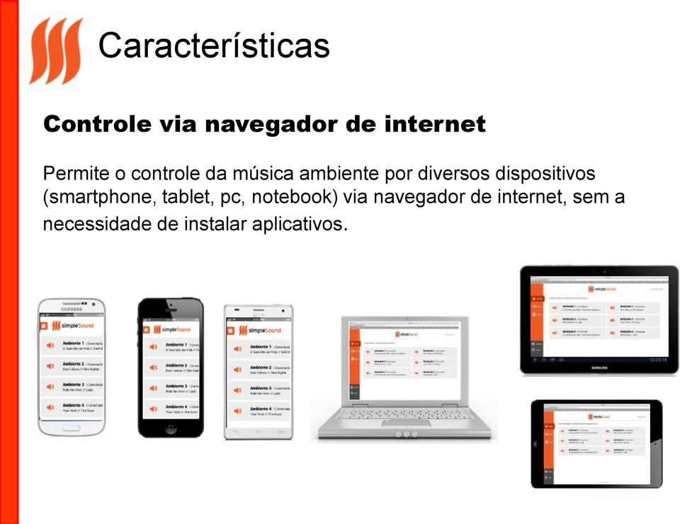 dispositivos (smartphone, tablet, pc, notebook) via