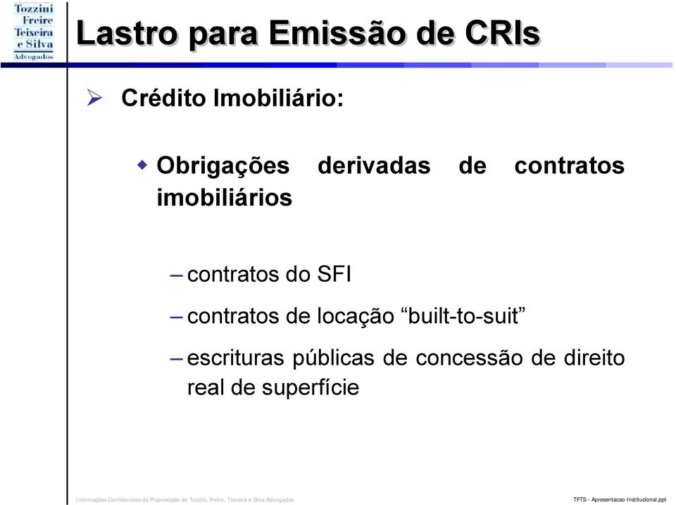 contratos do SFI contratos de locação built-to-suit