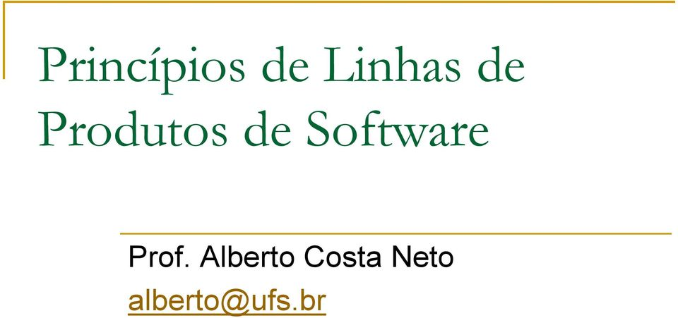 Software Prof.