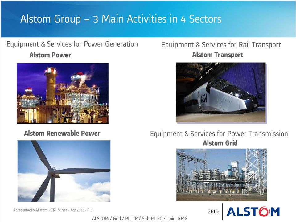 Alstom Renewable Power Equipment & Services for Power Transmission Alstom Grid
