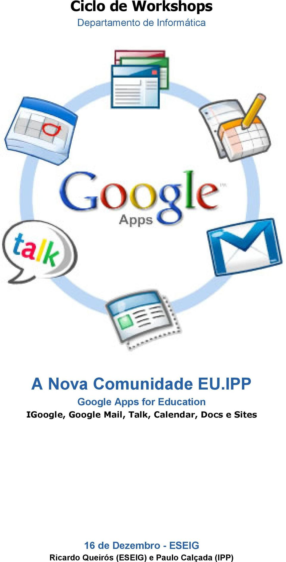 IPP Google Apps for Education IGoogle, Google Mail,