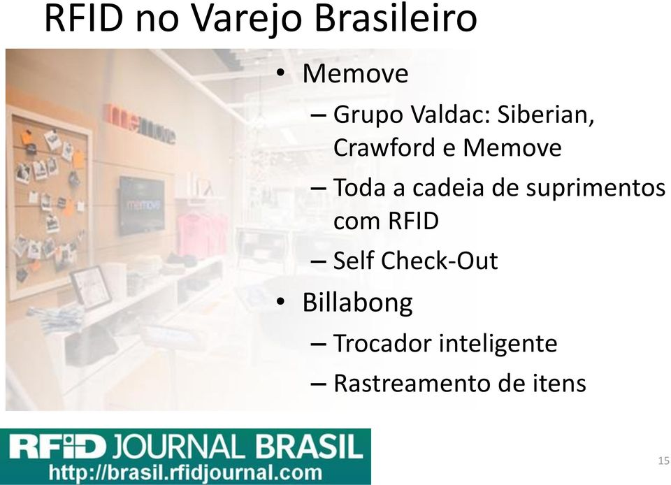 cadeia de suprimentos com RFID Self Check-Out