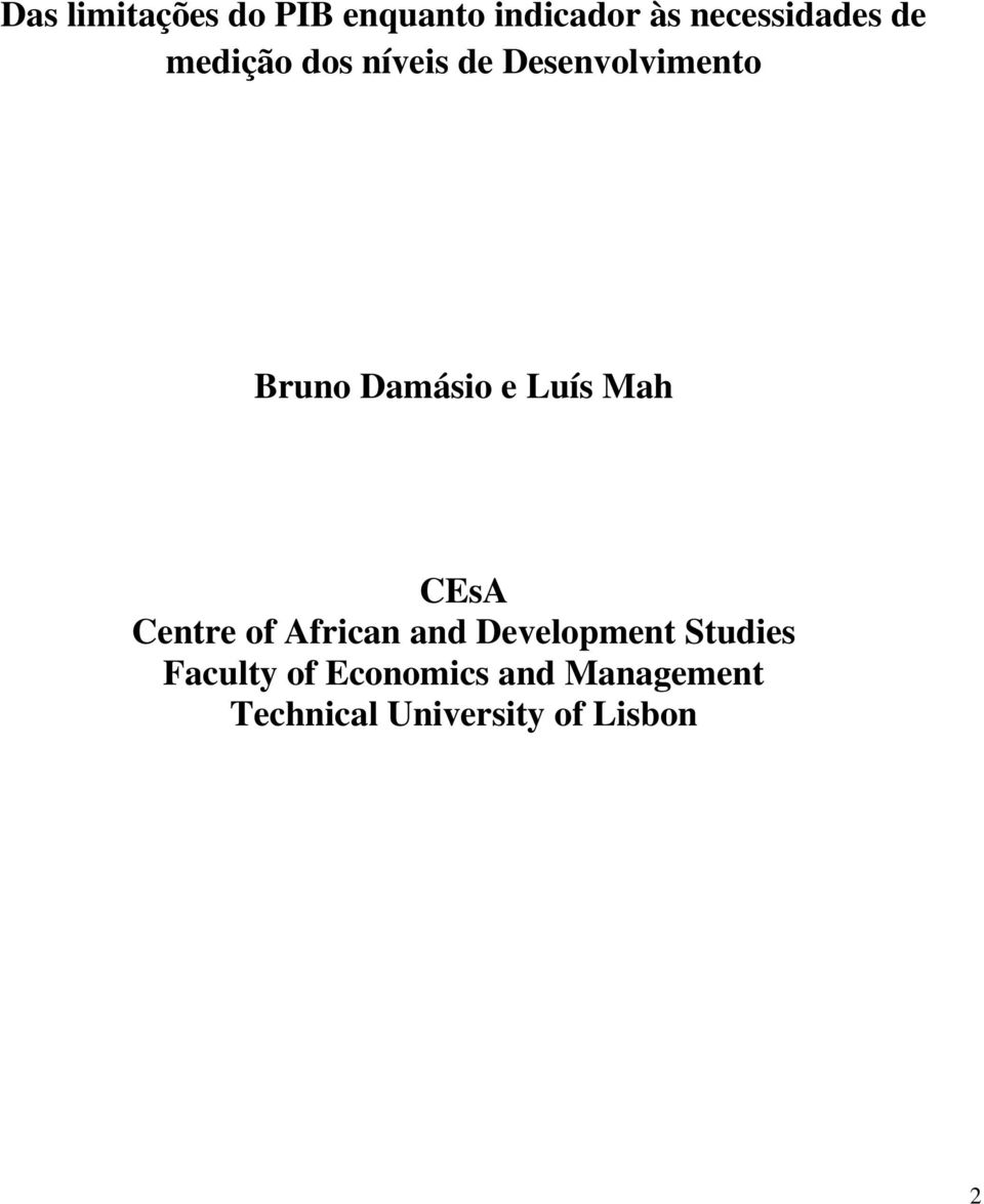 Mah CEsA Centre of African and Development Studies Faculty