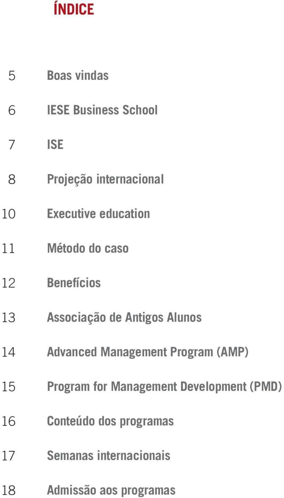 de Antigos Alunos Advanced Management Program (AMP) Program for Management