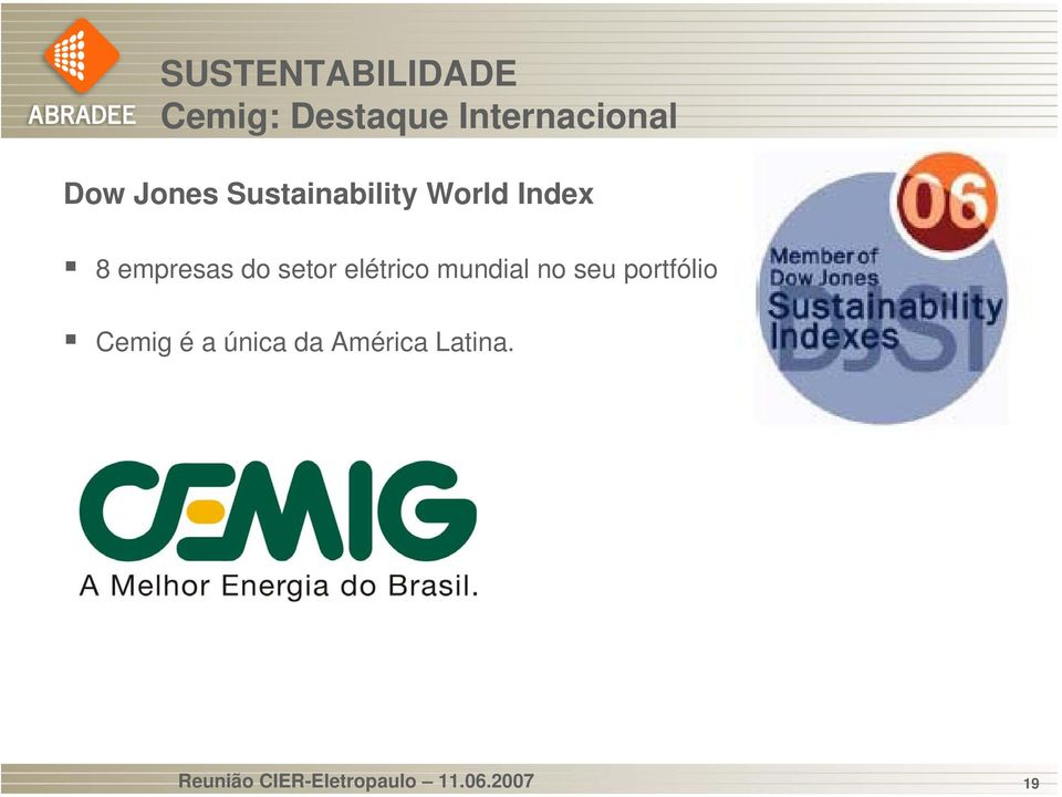 Internacional Dow Jones Sustainability World Index 8