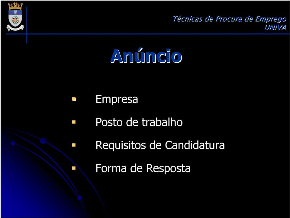 Requisitos de