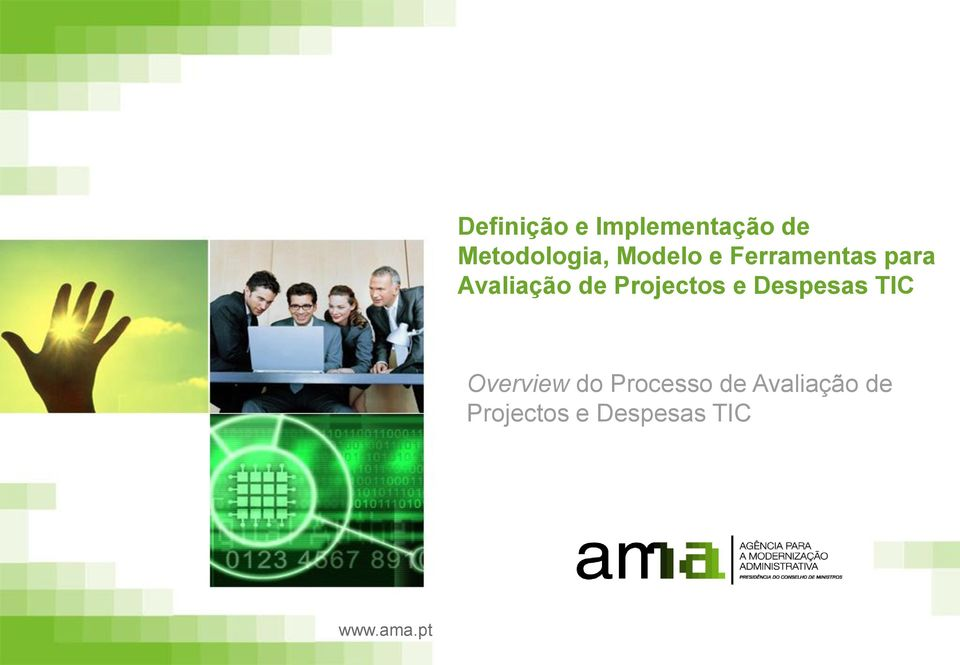 Projectos e Despesas TIC Overview do