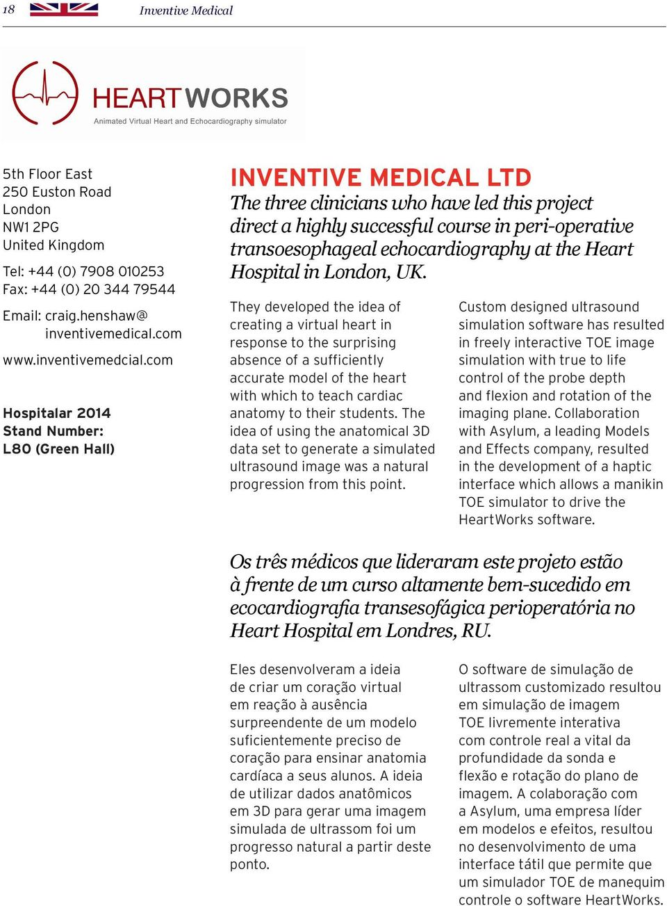 echocardiography at the Heart Hospital in London, UK.