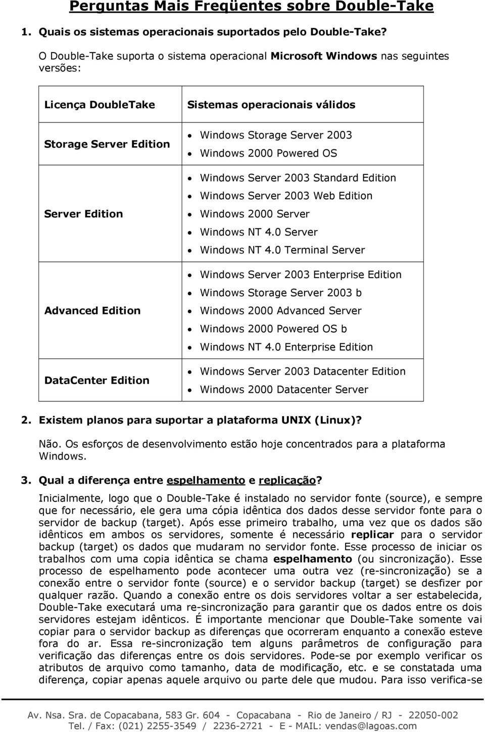 Edition Windows Storage Server 2003 Windows 2000 Powered OS Windows Server 2003 Standard Edition Windows Server 2003 Web Edition Windows 2000 Server Windows NT 4.